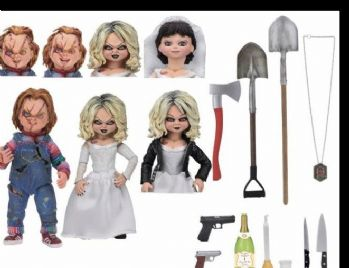 "CHUCKY 7"" SCALE ACTION FIGURE ULTIMATE BRIDE OF CHUCKY ""CHUCKY & TIFFANY"" 2-PACK"